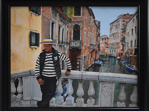 Shy Gondolier, Venice 2019