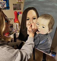 Acrylic Portrait for Katie