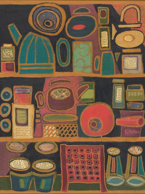 Tea Cupboard by Linda Pointer