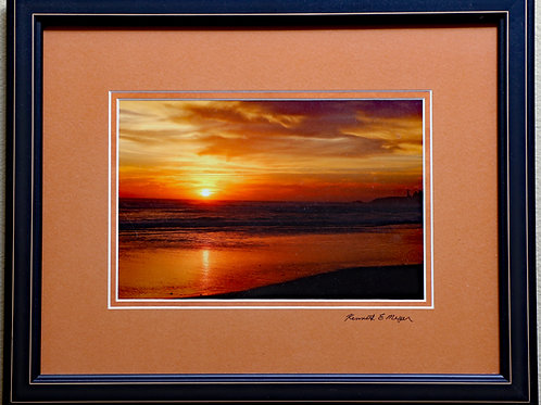 Agaate Beach Sunset by Kenneth E Meyer