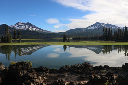 South Sister and Broken Top by Kenneth E Meyer