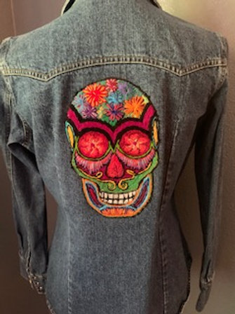 Hand Embroidered Women's Jean Jacket