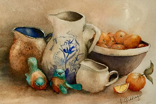 Oranges and Creamers by Joan Giddings Turley