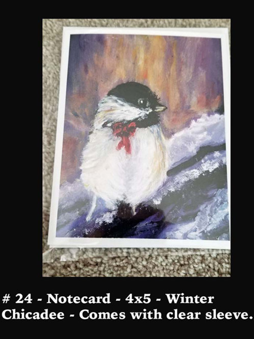 Winter Chickadee- Card