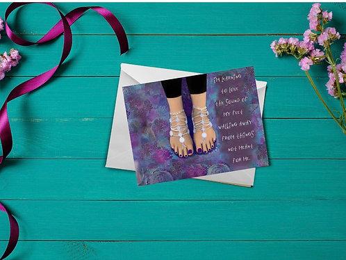 Walking Away card