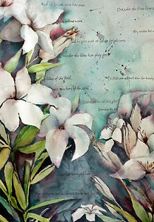 Consider the Lilies, canvas print__Joan