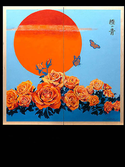 Orange and Blue #2 by Guy Boster