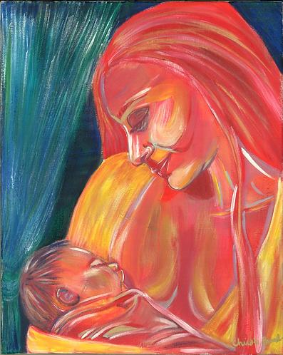 Original Acrylic Painting- Devotion