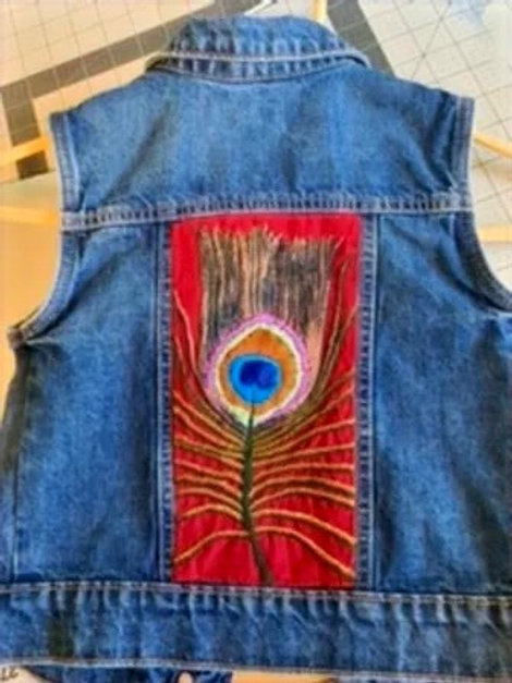 Peacock Feather Vest