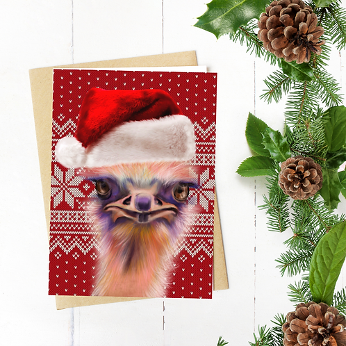 Christmas Ostrich cards (10 pc.)