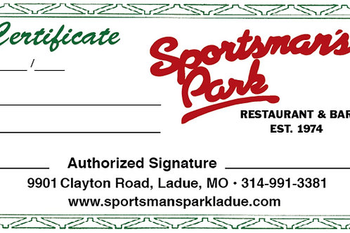 Sportsmans Gift Card