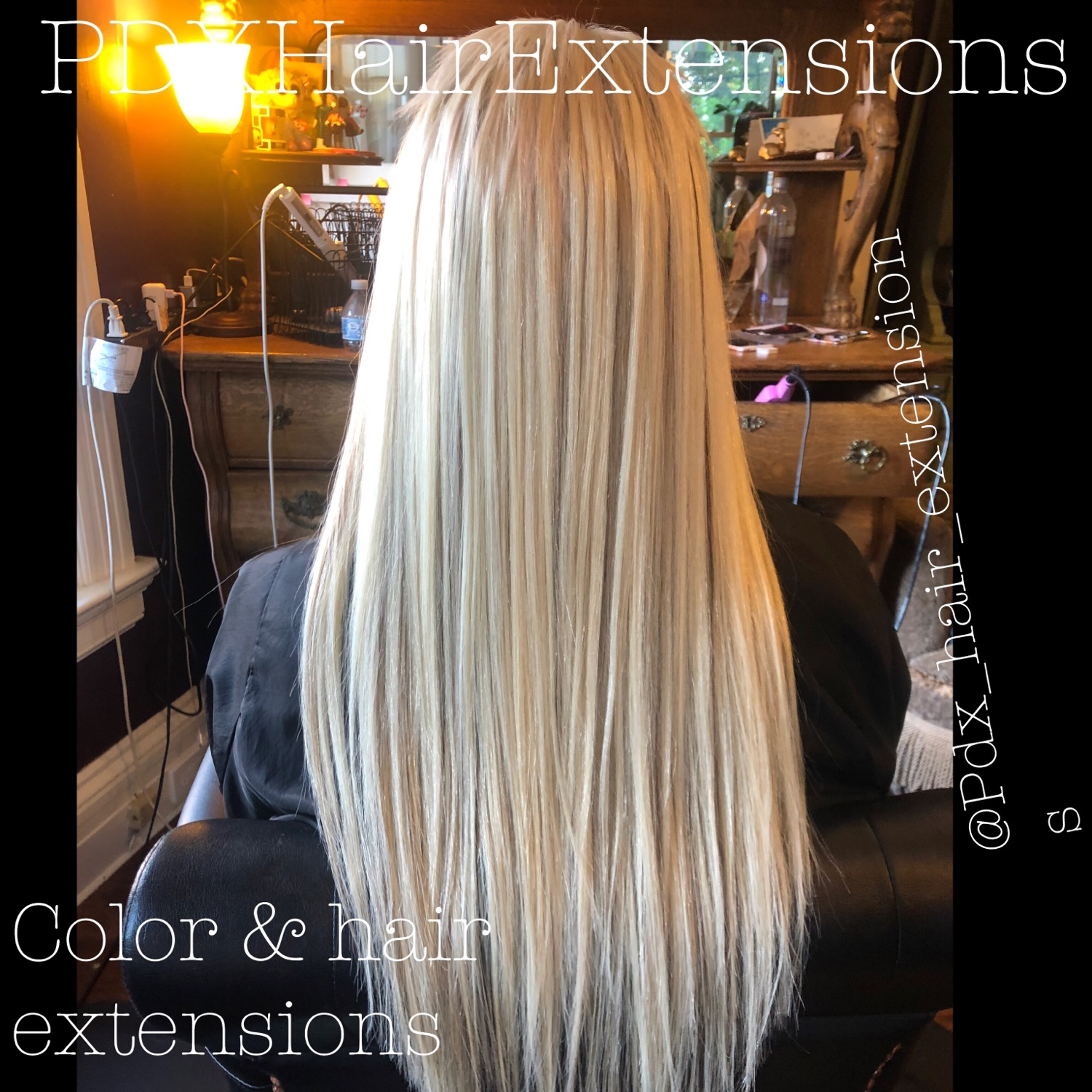 Ice Blonde Color & Extensions