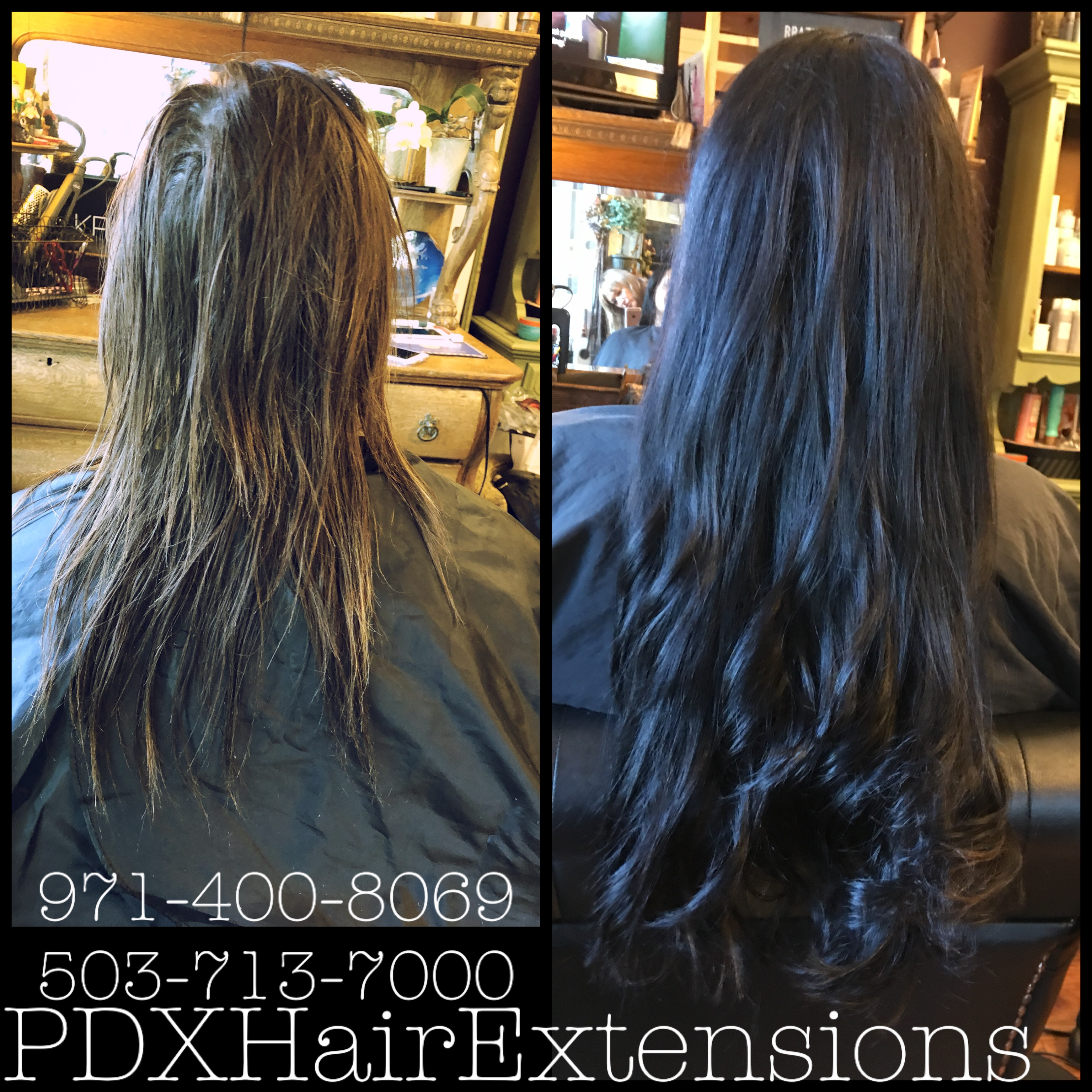 Before & After: Espresso Extensions