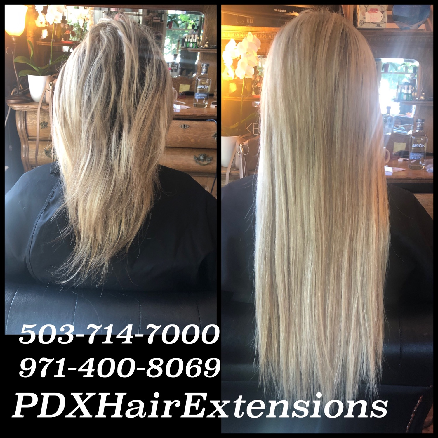 Before & After: Lt. Blonde Extension