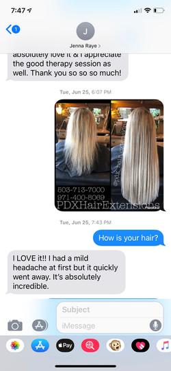 Client Reviews: Blonde Extensions