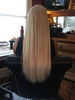 Blonde & Pink Extensions