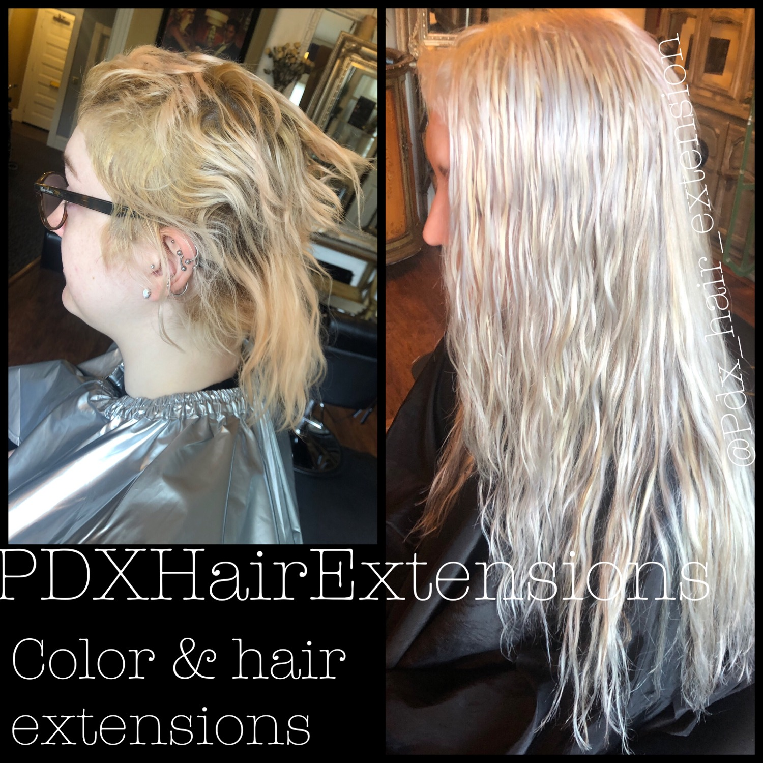 Blonde, Air-Dried Extensions