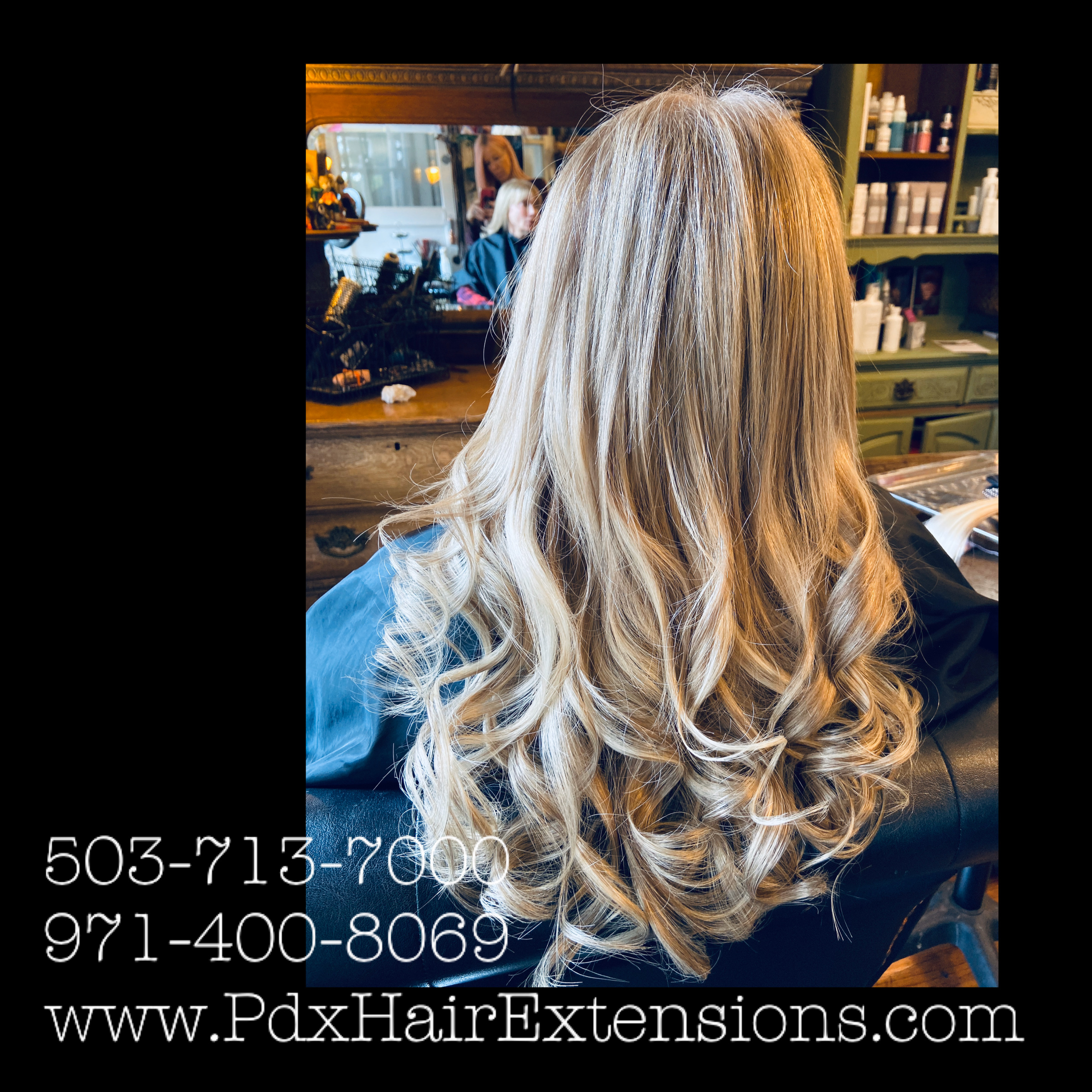Lt. Blonde Curled Extensions
