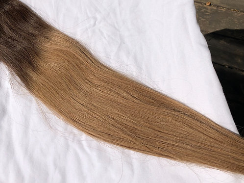 6/10 blonde ombre' Clip in Hair Extensions