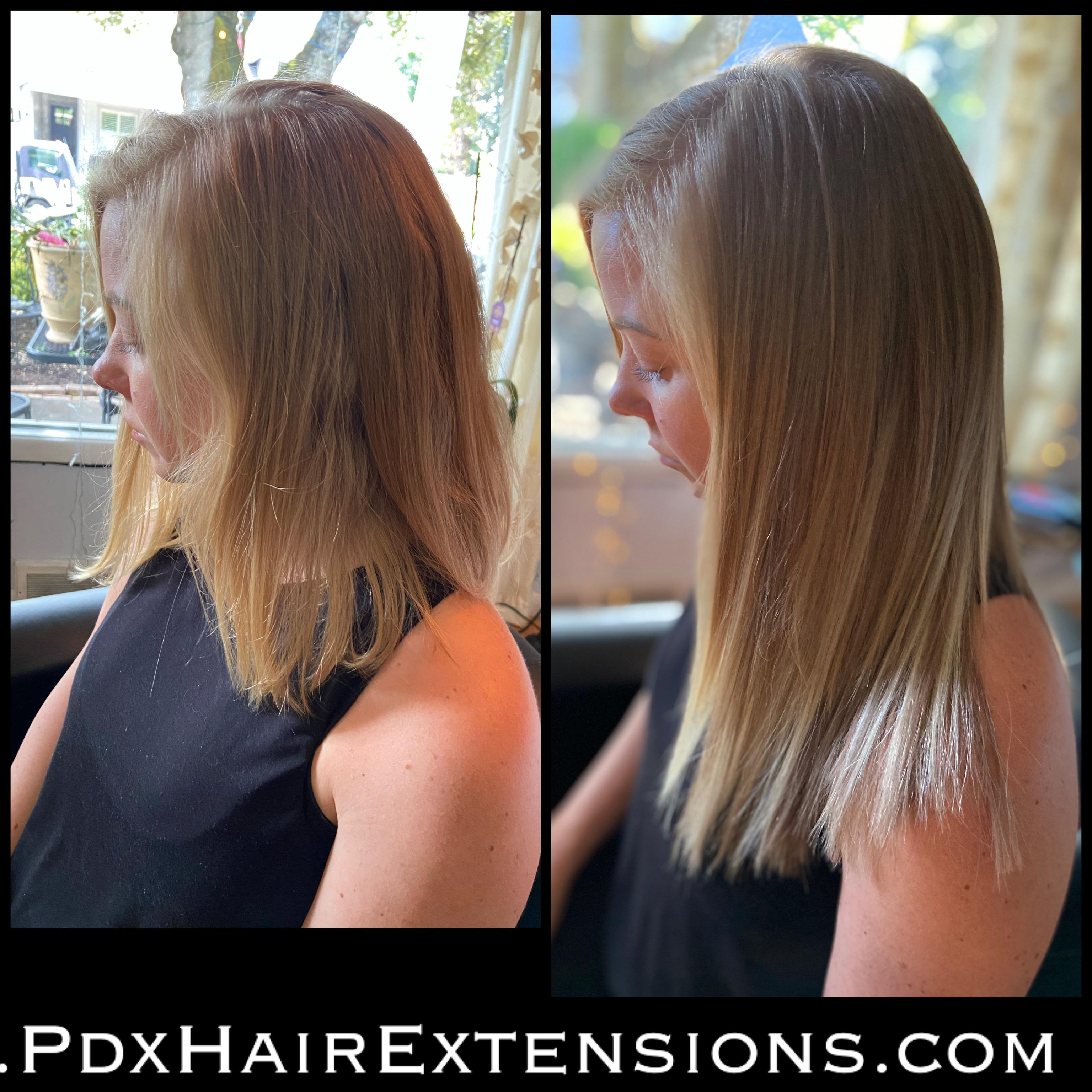 hair extensions blonde