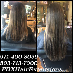 Long, Brunette Extensions