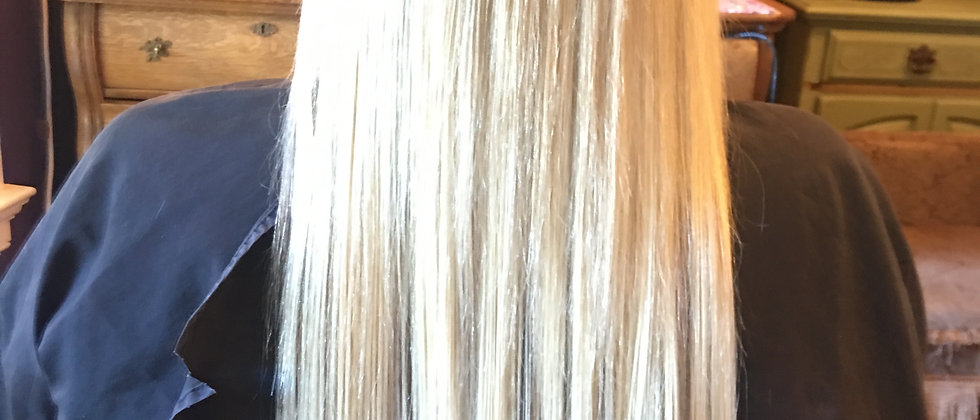#60 lightest blonde Clip in Hair Extension