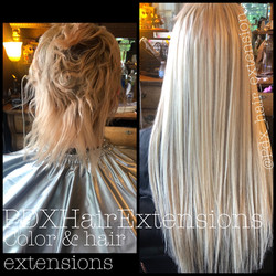 Color Correction & Blonde Extensions