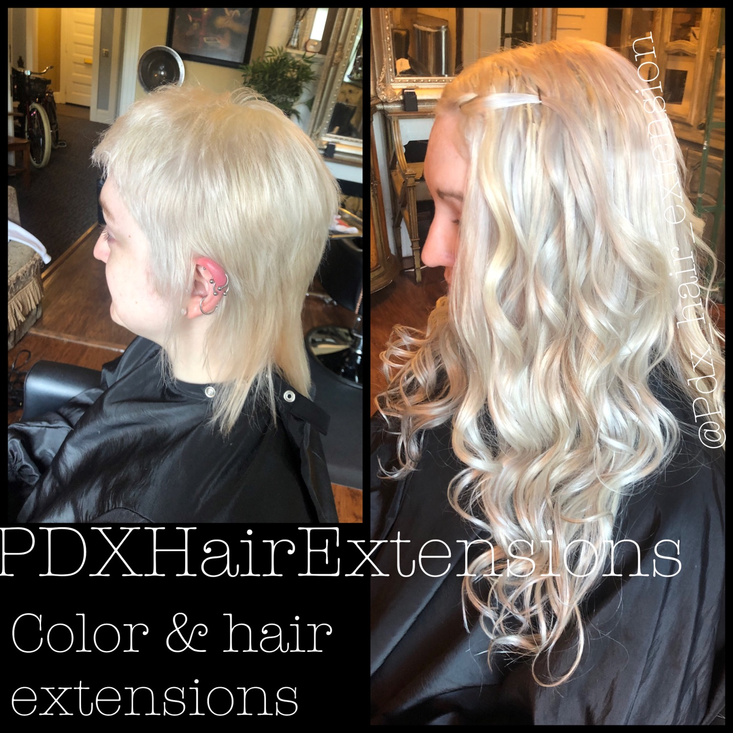 Ice Blonde Extensions
