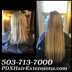 blonde extensions