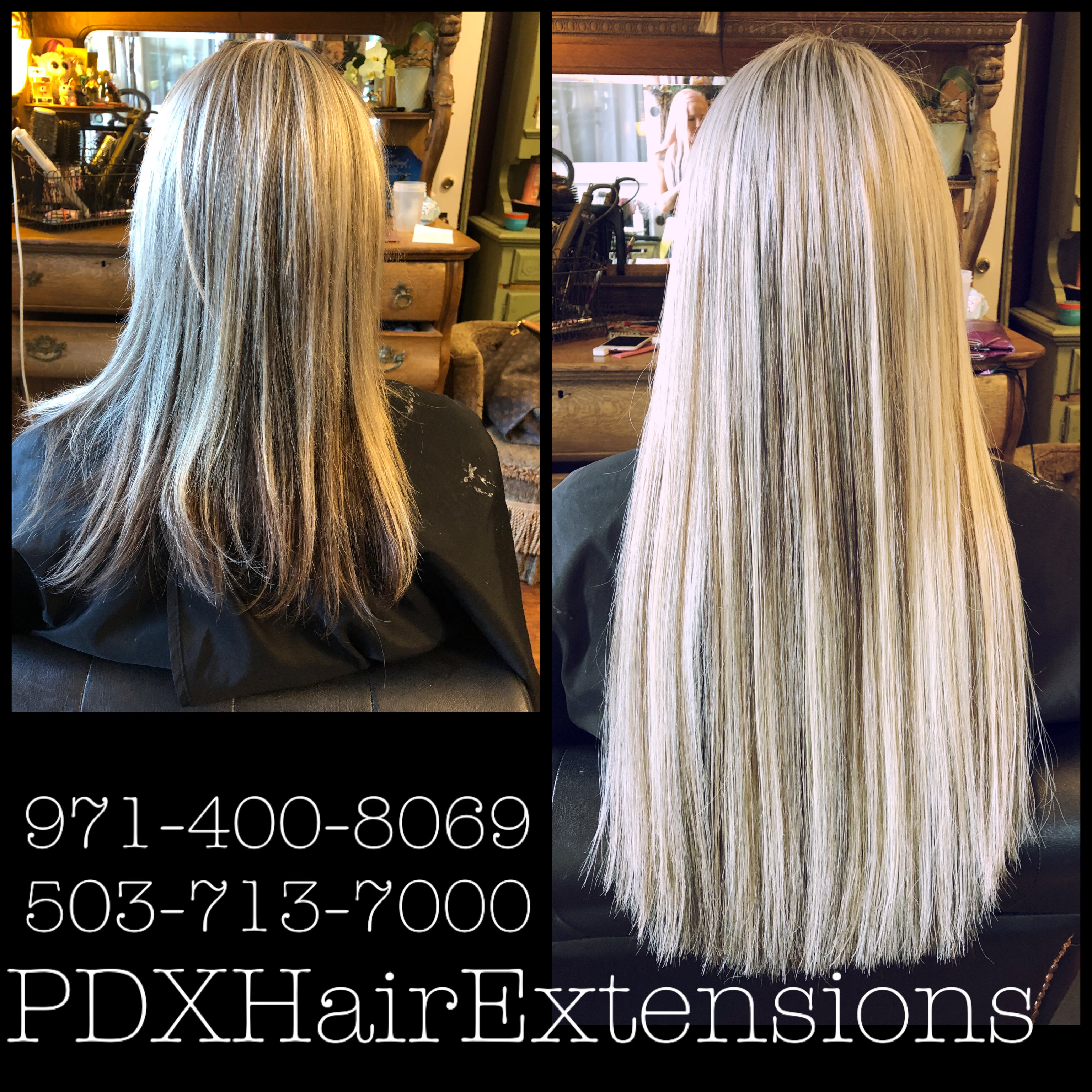 Before & After: Platinum Extensions