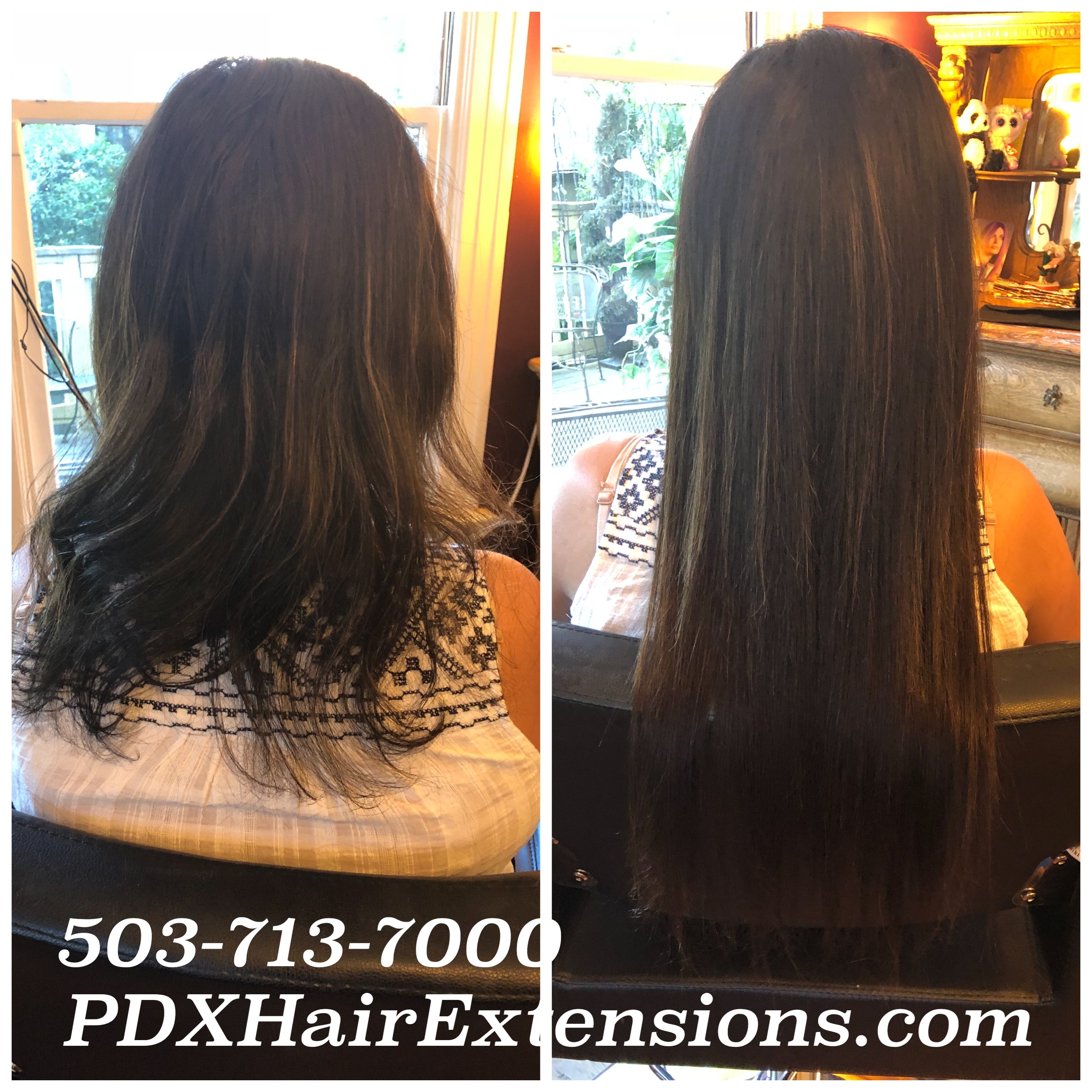 Before & After: Dark Brown Extension