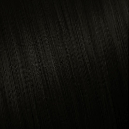 #1 Jet Black Clip in Hair Extensions