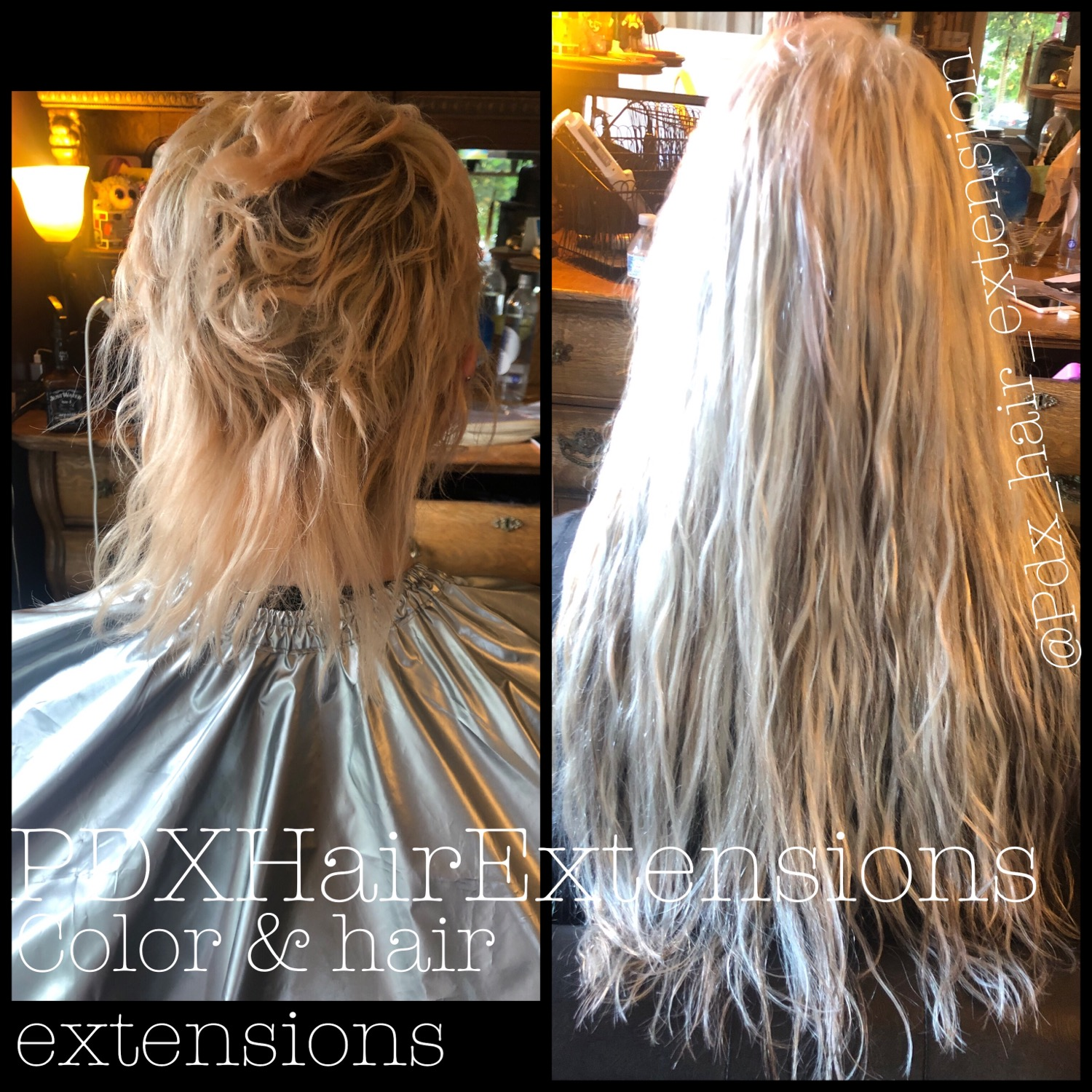 Light Blonde, Washed Hair Extensions