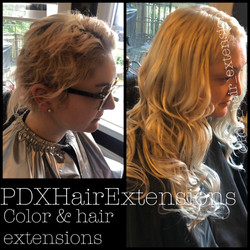 Blonde Color Correction & Extensions