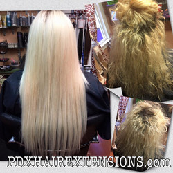 hair extensions and color