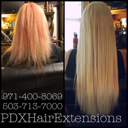 Before & After: Blonde/Pink