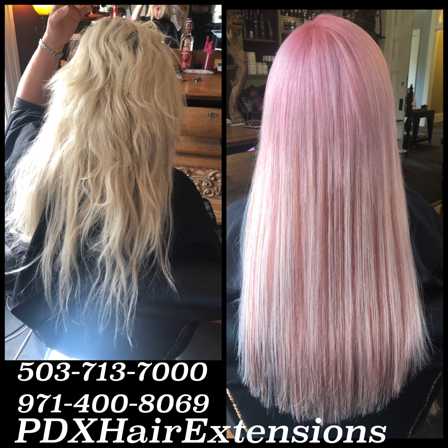 Pink + Blonde Extensions