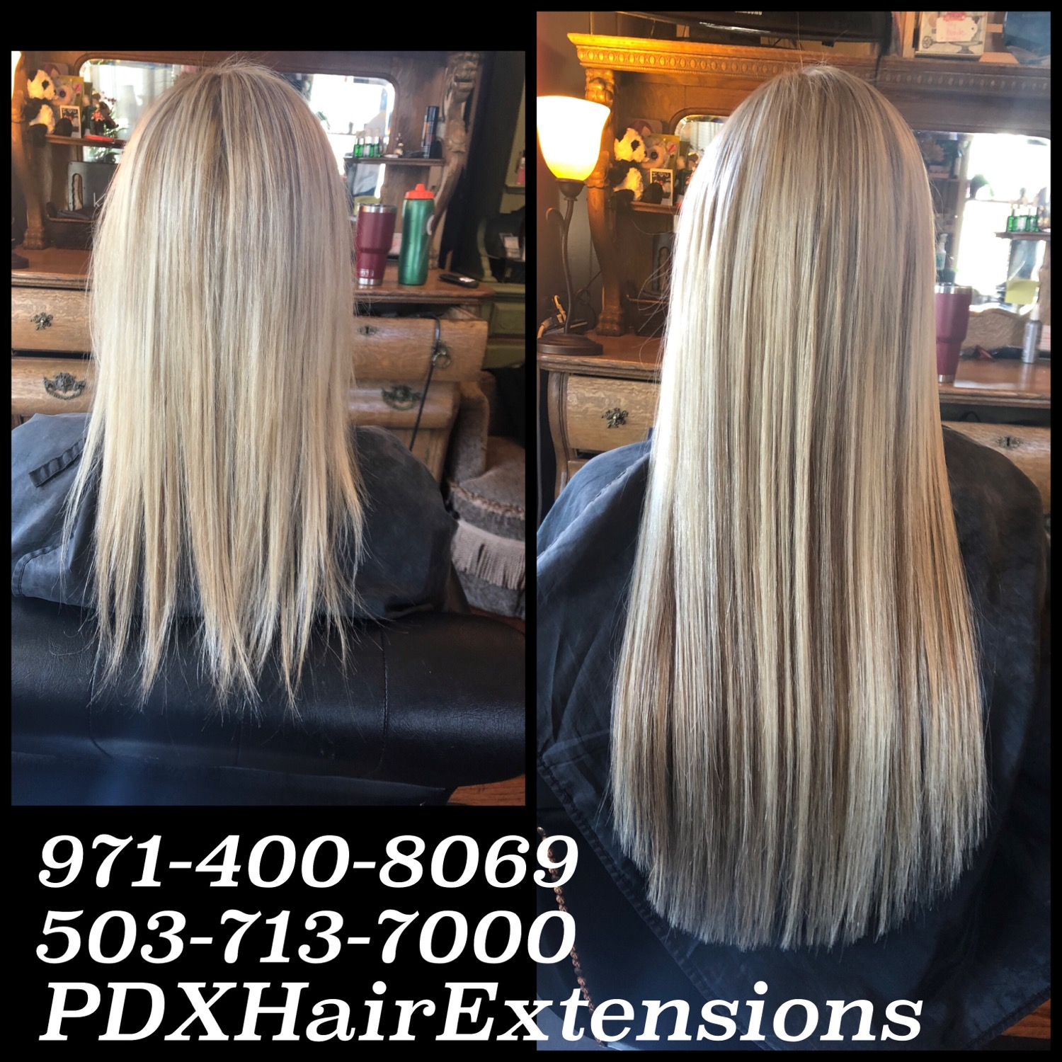 Before & After: Blonde Extensions