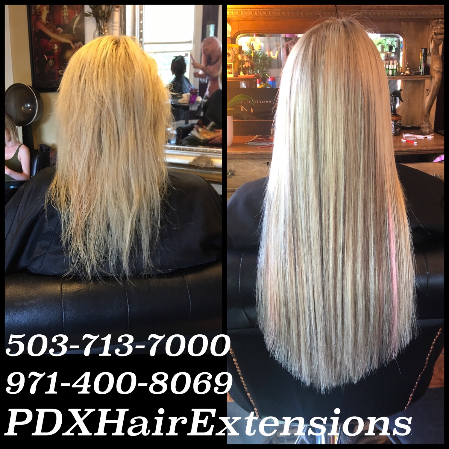 Before & After: Ice Blonde Extension