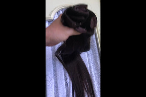 #2 Dark Clip in Hair Extensions