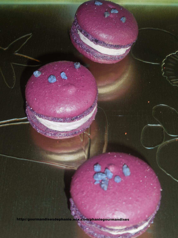 Macarons violette cassis