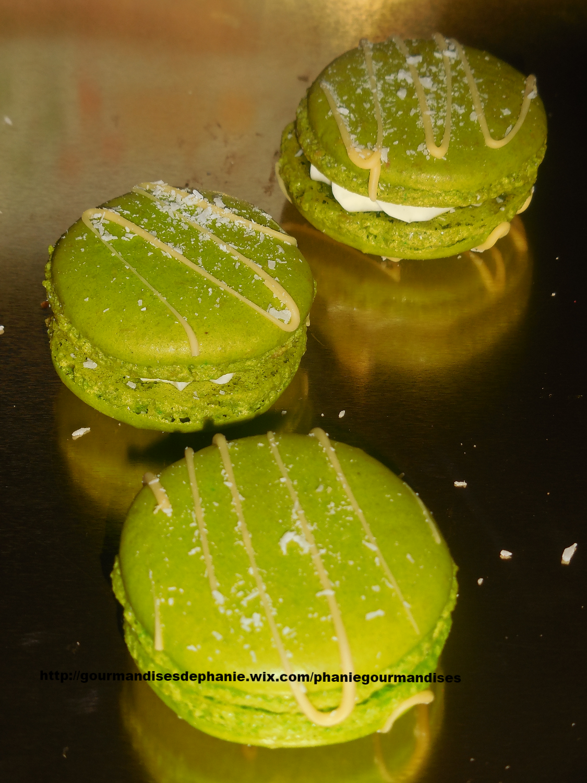 macarons coco-citron vert