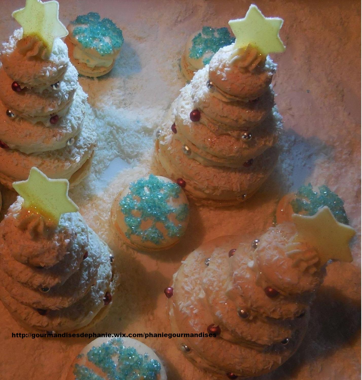 macarons sapins noix de coco