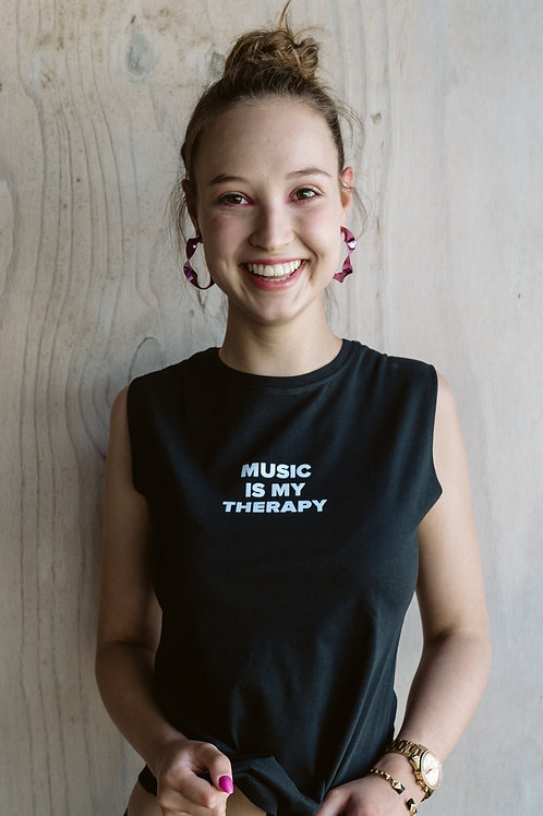 MUSIC IS MY THERAPY TANK T