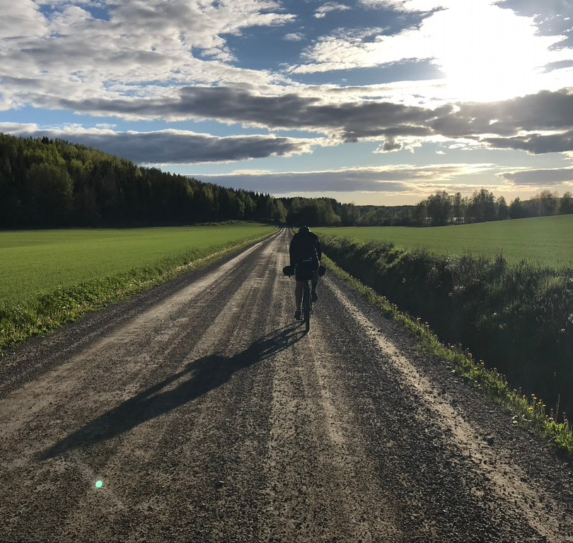 Ride and sunset