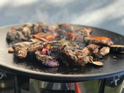 meat on fire
