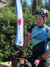 Antti at the finish