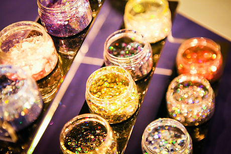 Sparkle & Co.'s Chunky Glitter Display