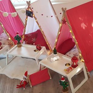 Christmas themed Teepees