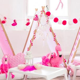 Flamingo Teepee Sleepover